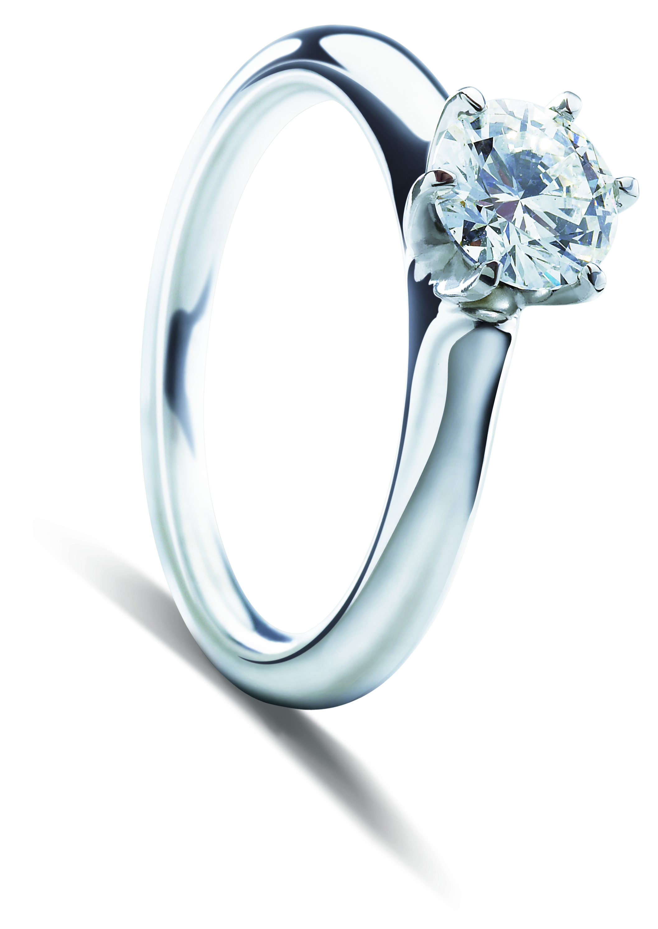 faceted solitaire baxtermoerman products engagement diamond ring