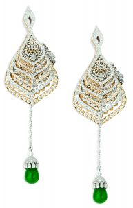 ORRA Japanese styled folding fan earrings - Closed image