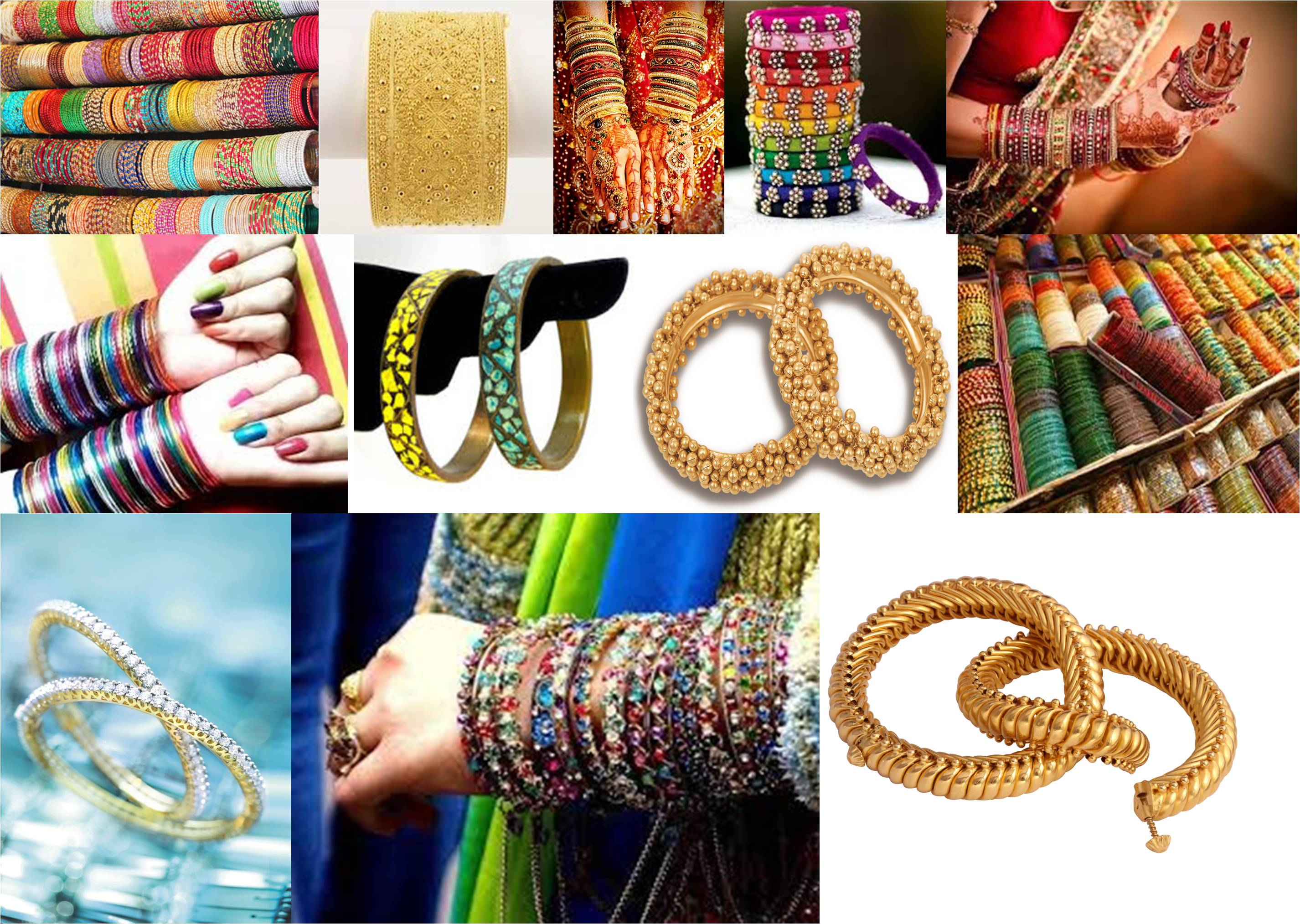 History of bangles - Collage