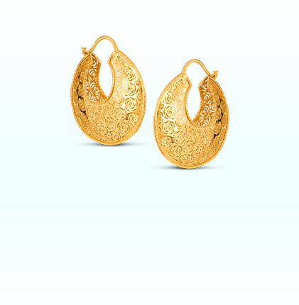 Bella Gold Hoops Earring
