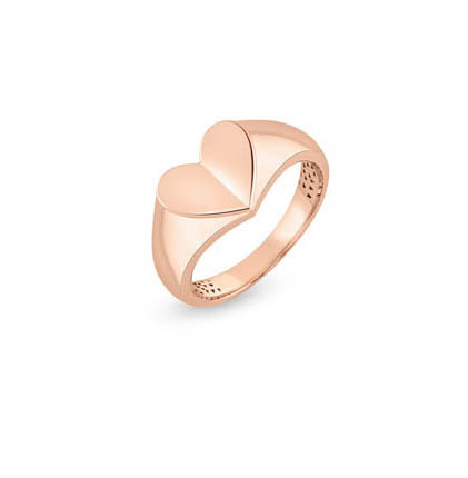 DESIRED Gold Heart Pinky Ring
