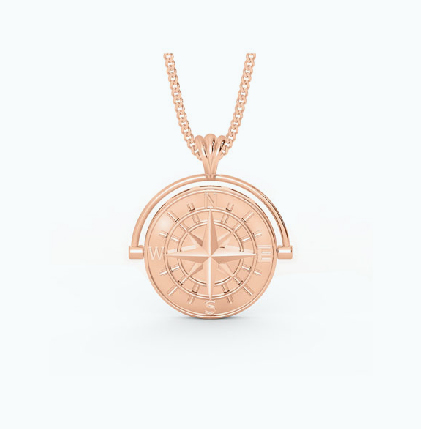 DESIRED Gold Compass Pendant