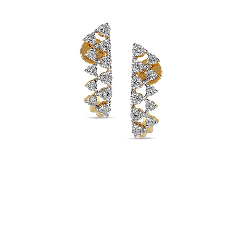 Astra Diamond Hoop Earring