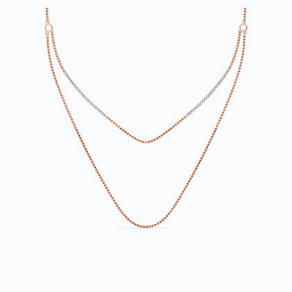 DESIRED Diamond Two Line Necklace