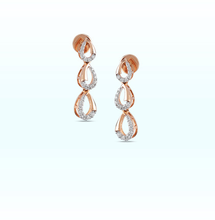 Astra Diamond Drop Earring