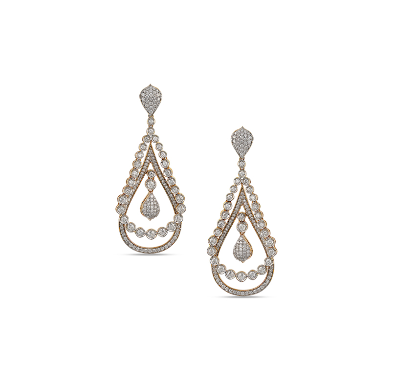 ORRA Diamond Chandelier Earring