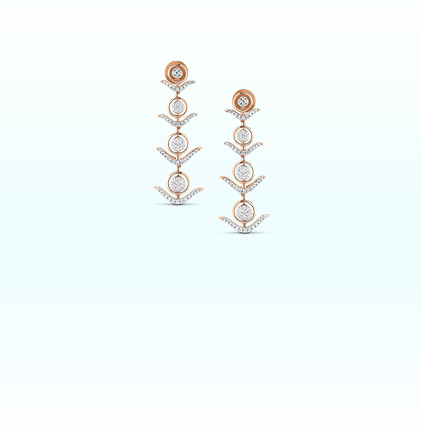 Astra Diamond Hanging  Earring
