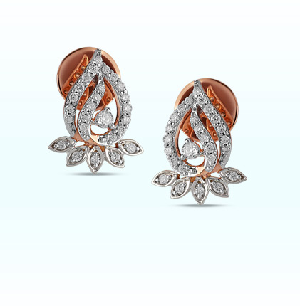 Astra Lotus bloom Stud Earring