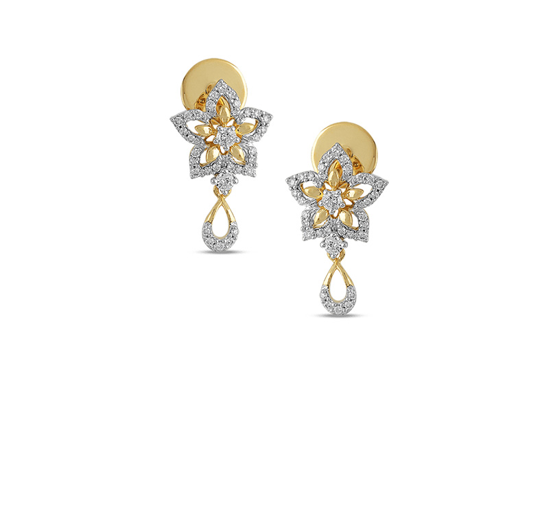 Astra Tulip bloom Stud Earring