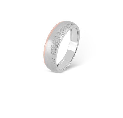 Barcode Platinum Ring For Him