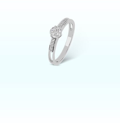 ORRA Platinum Semi Mount Ring For Her